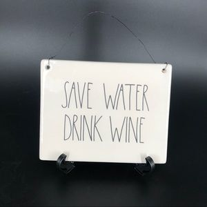 RAE DUNN SAVE WATER DRINK WINE WALL TILE LL